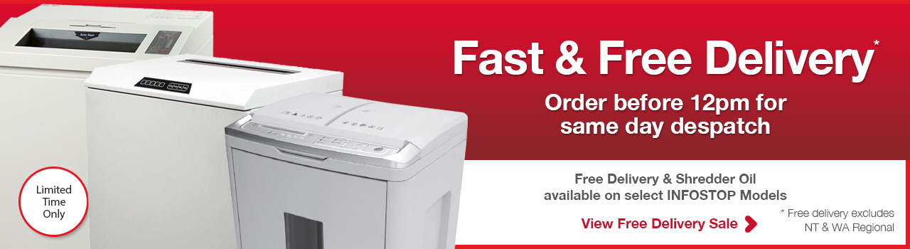 INFOSTOP paper free dlivery paper shredders