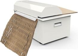 CB410 Cardboard Shredder Rear