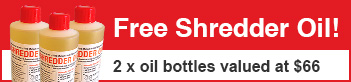 Free paper shredder oil with purchase.