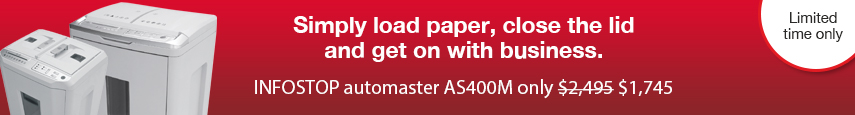INFOSTOP automaster auto feed paper shredder sale