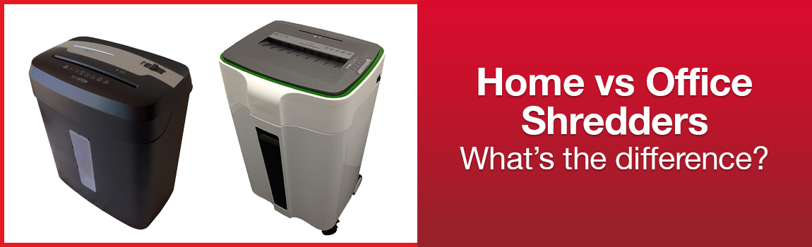 Home vs office paper shredders