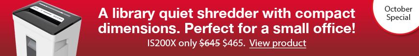 Infostop IS200X paper shredder sales