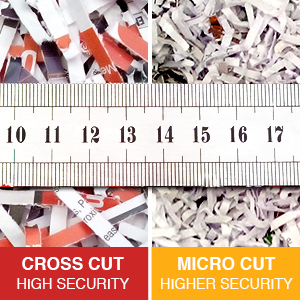 Difference between cross cut and micro cut shredding